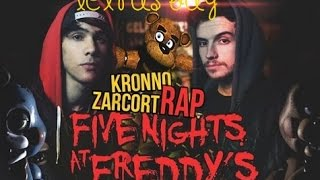 LETRA DE  FIVE NIGHTS AT FREDDY'S RAP ZARCORT Y KRONNO