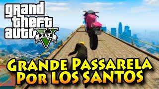 GTA V ONLINE COM MODS: A GRANDE RETA POR CIMA DE LOS SANTOS!