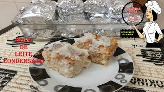 Bolo Cremoso de Leite Condensado Com Castanha de Caju Delicioso