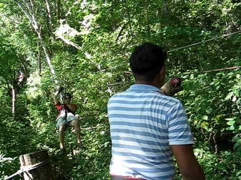 Elliot ziplining in San Juan Del Sur, Nicaragua