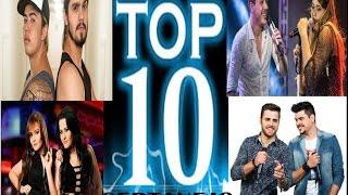 TOP 10 MUSICAS SERTANEJAS  MARÇO DE 2017...