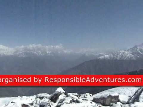View of Ganesh Himal and Langtang lirung after fresh snowfall