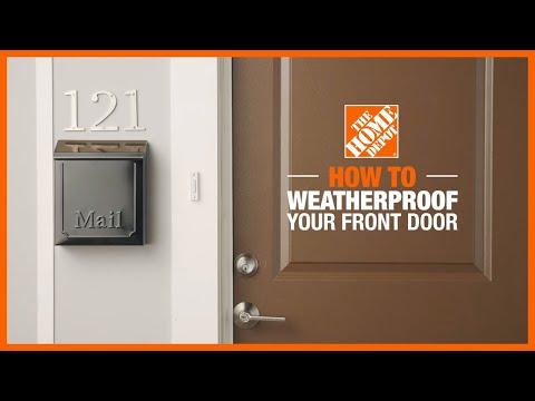 How to Weatherproof Your Front Door
