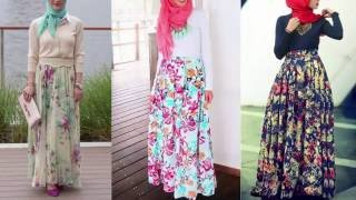 1526bbe4f موديلات تنانير وبلوزات للمحجبات Hijab Maxi Skirt & Blouse Outfit