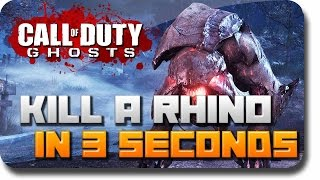 """COD Ghosts Extinction - How To """"Kill a Rhino"""" or """"Mammoth"""" in 3 Seconds (Kill Fast and Easy)"""