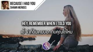 แปลเพลง Because I Had You - Shawn Mendes