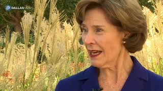 Former first lady Laura Bush brings Monarch Wrangler to local park