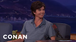 """Tig Notaro's 1-Year-Old Son Likes To Yell """"I'm Gay!""""  - CONAN on TBS"""