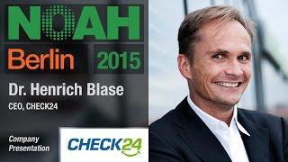 Dr. Henrich Blase, CHECK24 - NOAH15 Berlin