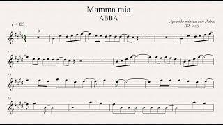 MAMMA MÍA: Eb Inst (saxo alto, saxo barítono...) (partitura con playback)