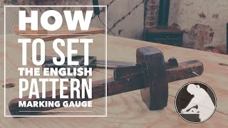 How to Set the English Pattern Marking Gauge