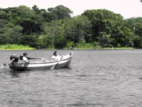 Rowing to school on Lake Nicaragua