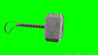 Green Screen Thor Mjolnir 2