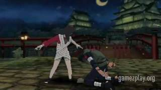 Naruto Shippuden Clash of Ninja Revolution 3 never-before-seen Kurenai, Hinata, Kiba and Shino [HD]