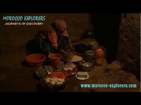Morocco making traditional cous cous by hand –  A Desert Village in the Sahara
