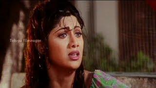 Goons trying to Abduct Shilpa Shetty - Sahasa Veerudu Sagara Kanya Scenes - Venkatesh width=