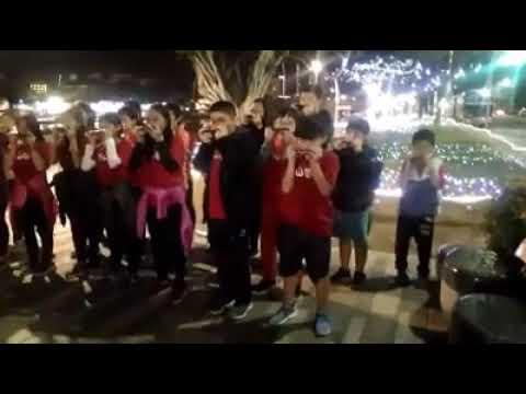 1080116文山畢業班鐵道音樂徒步環島於高雄愛河畔的快閃演出 - YouTube