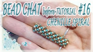 Bead Chat #16 - Chenille Stitch - A simple idea for a tubular beadwork