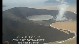 BNPB: Gunung Anak Krakatau Tinggal 110 Meter