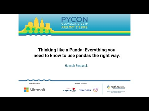 Thinking like a Panda: Everything you need to know to use pandas the right way.
