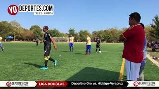 Deportivo Oro elimina a Hidalgo Veracruz en la Liga Douglas