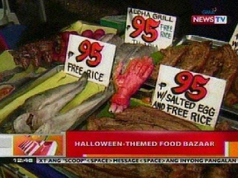 halloween themed food bazaar sa qc