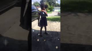 Pretty little girl dancing