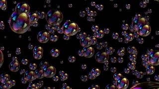 Animated Realistic Bubbles Black Screen Background Video Effect