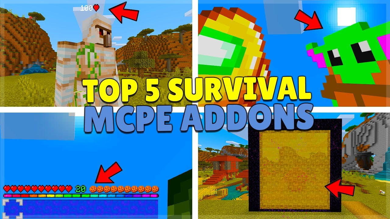 ECKOSOLDIER - THE TOP 5 BEST SURVIVAL ADDON! for Minecraft Pocket Edition (MCPE, PC, Xbox, Switch PS4)