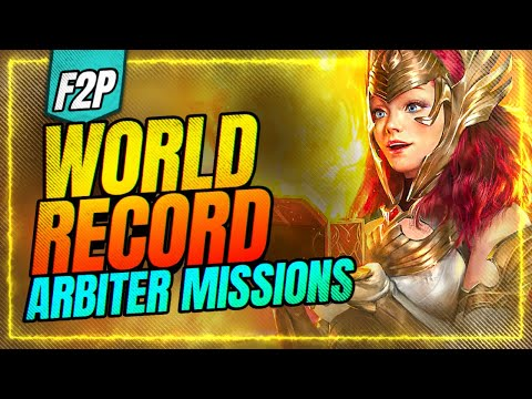 WORLD RECORD f2p Arbiter Missions! 63 days?! | RAID Shadow Legends