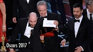 HUGE MISTAKE at the 2017 Oscars! Moonlight BEATS La La Land for Best Picture