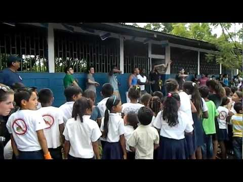 Singing with Nicaragua School