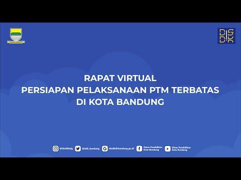 Rapat Virtual Persiapan Pelaksanaan PTM Terbatas d
