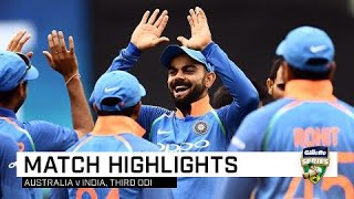 Dhoni, India seal tense ODI series win | Third Gillette ODI