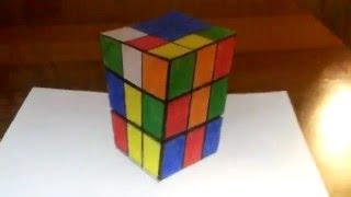 3D Rubik's Cube drawings