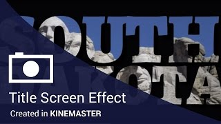 Reverse Text Knock-out Title Tutorial For the KineMaster Mobile Video Editing App