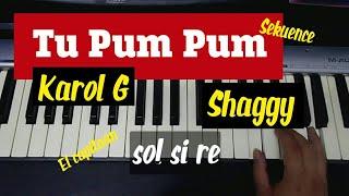 """Aprende a tocar """"Tu Pum Pum"""" - Karol G, Shaggy ft. El Capitán, Sekuence en piano"""