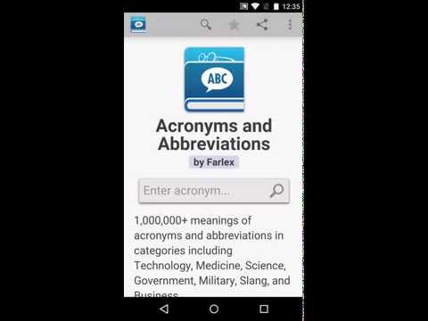 Acronyms and Abbreviations1 6 Λήψη APK για Android - Aptoide