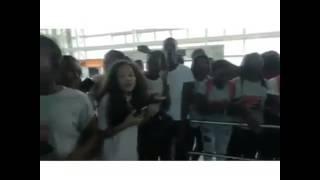 Força Suprema chegada ão aeroporto de Moçambique 2017
