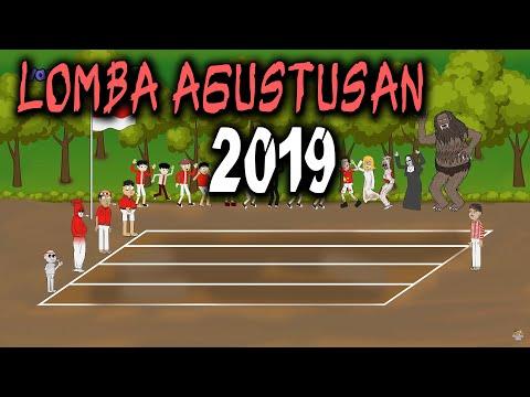 Download Video Lomba Agustusan 2019 Lucu - Manusia Vs Hantu | Animasi Horor Kartun Lucu | Warganet Life