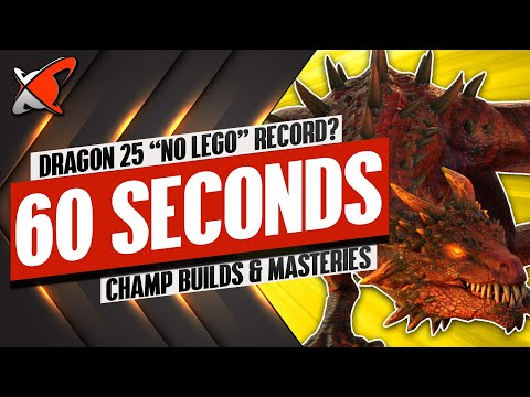 DRAGON 25 In 60 Seconds WITHOUT Legendary Champions | RAID: Shadow Legends