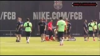Veja treinamento de Messi e Neymar para final da Copa do Rei