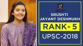 UPSC Topper Mock Interview, Srushti Jayant Deshmukh (Rank 5, CSE 2018)