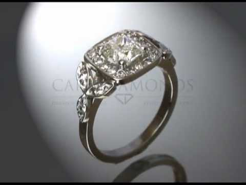 Complex side stone ring,white  diamond,small round stones,pear shaped diamonds,engagement ring