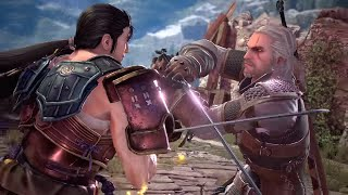 SOULCALIBUR 6 - Geralt Meeting Cutscene & Boss Fight (Libra of Soul Story) PS4 Pro