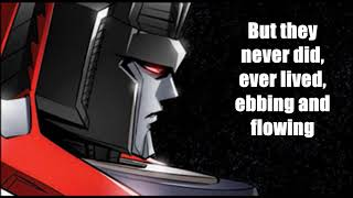 Believer / (Imagine Dragons)/ (Lyrics)/(IDW Transformers: Till All Are One )