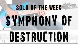 Solo Of The Week: 12 Megadeth - Symphony of Destruction tab