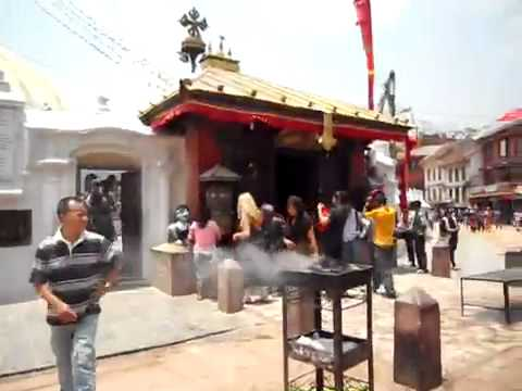 Bells ring at Boudha Stupa