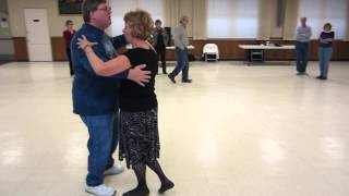 """64 JOHN TOLL DEMONSTRATES """"RUNNING DIAMOND"""" AND """"DIP RECOVER"""" FOXTROT STEP AT ROUND DANCE WORKSHOP"""