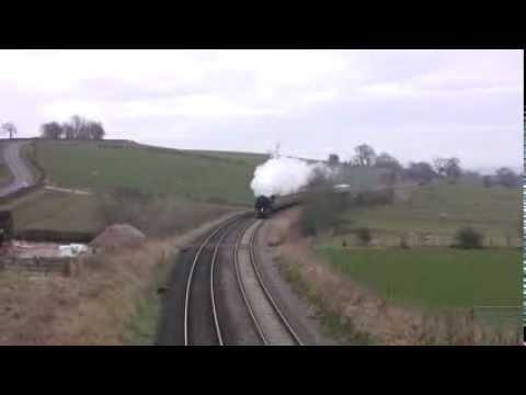 70000 Britannia + 60009 UoSA – Cumbrian Steam 02/03/13!